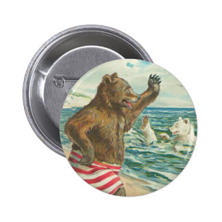 Victorian Funny Bears Button