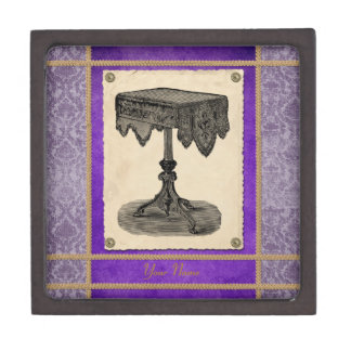 Victorian Furniture Ornate Antique Table Gift Box