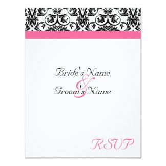 Victorian Fuschia Wedding Matching RSVP 4.25x5.5 Paper Invitation Card