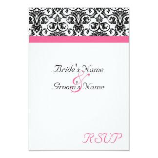 Victorian Fuschia Wedding Matching Small RSVP Card