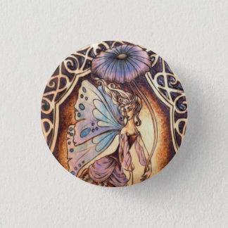 Victorian Garden Fairy Button Pin