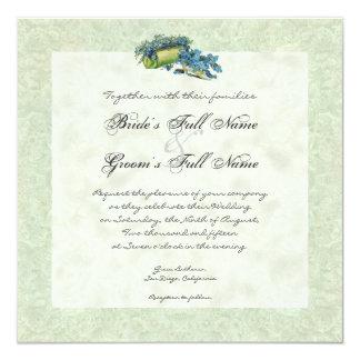 Victorian Garden Gazebo, Wedding Invitation