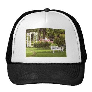 Victorian Garden White Chair birdbath Trucker Hat