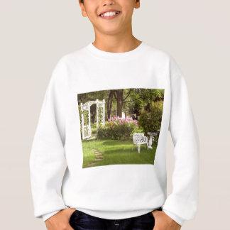 Victorian Garden White Chair birdbath Sweatshirt