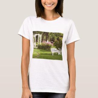 Victorian Garden White Chair birdbath T-Shirt