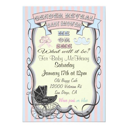 Victorian gender reveal baby shower invitations zazzle victorian gender reveal baby shower invitations filmwisefo