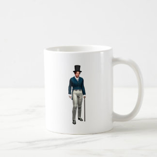 Victorian Gentleman in a Blue Coat Coffee Mug