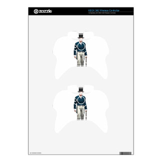 Victorian Gentleman in a Blue Coat Xbox 360 Controller Skins