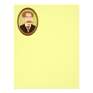 Victorian Gentleman Portrait Letterhead Template