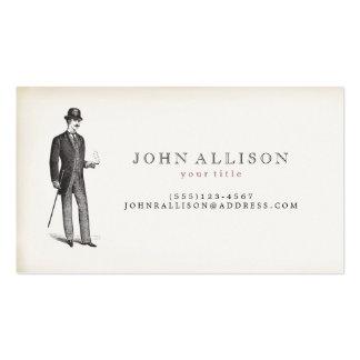 Victorian Gentleman s Vintage Calling Card 2 Business Card