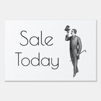 Victorian Gentleman Selfie Sale Today Lawn Sign