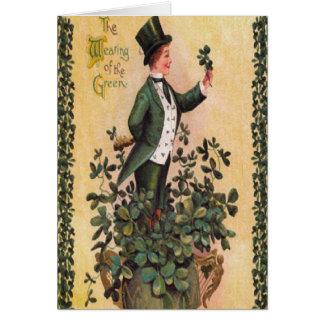 Victorian Gentleman St. Patrick's Day Card