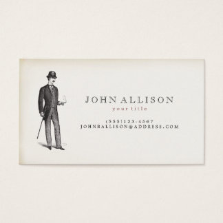 Victorian Gentleman's Vintage Calling Card 2