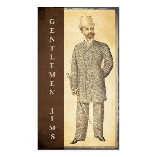 Victorian Gentlemen Vintage Antique Business Card