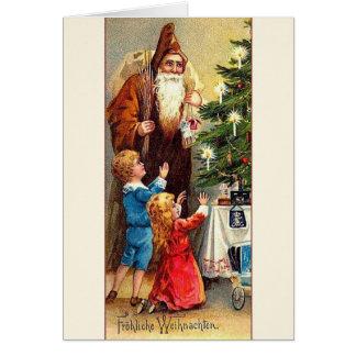 Victorian German Christmas Greeting Card