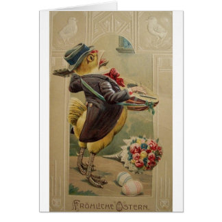 Victorian German Easter Card - Frohliche Ostern