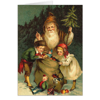 Victorian German Santa Card
