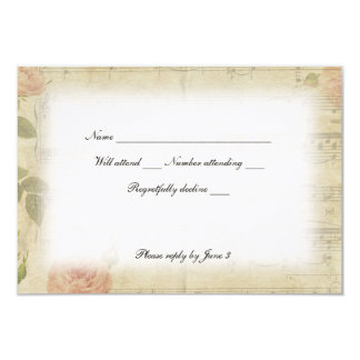 Victorian Ghost Music rsvp with envelopes Card