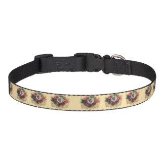 "Victorian ""Gilded Pansies"" Pet Collar"