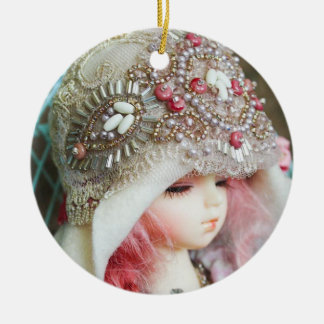 Victorian Girl Ceramic Ornament