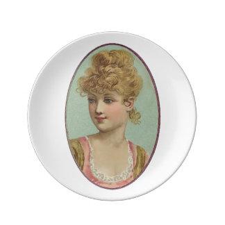 Victorian Girl Dinner Plate