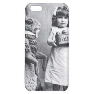 Victorian Girl Easter Bunny Antique Post Card Cover For iPhone 5C