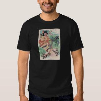 Victorian Girl Easter Bunny Iris Shirt