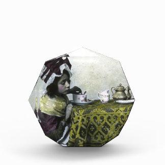 Victorian Girl Tea Time Vintage Magic Lantern Award