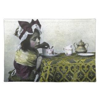 Victorian Girl Tea Time Vintage Magic Lantern Placemat