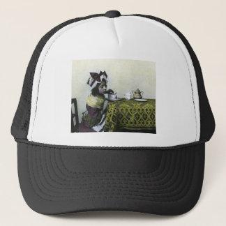 Victorian Girl Tea Time Vintage Magic Lantern Trucker Hat