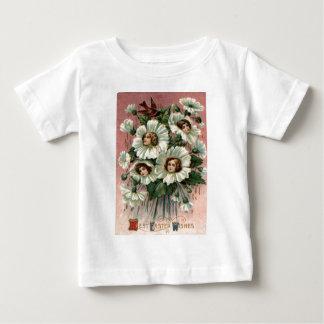 Victorian Girl White Flower T Shirt