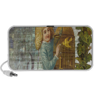 Victorian Girl With Gilded Canary Cage Mp3 Speaker