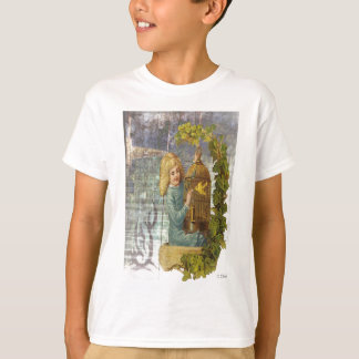 Victorian Girl With Gilded Canary Cage T-Shirt
