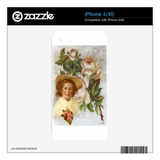 Victorian Girl With Rose Bonnet Skin For The iPhone 4