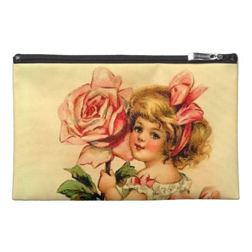 Victorian Girl with Rose Travel Accessories Bags
