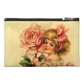 Victorian Girl with Rose Travel Accessory Bag