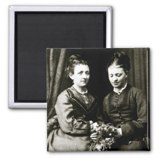 Victorian Girlfriends 2 Inch Square Magnet