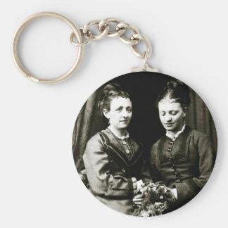 Victorian Girlfriends Basic Round Button Keychain