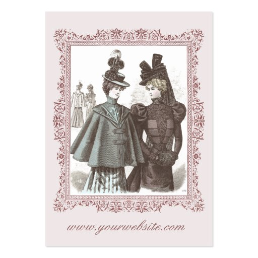 Victorian Girlfriends Vintage Business Cards