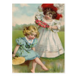 Victorian girls by the water postcards