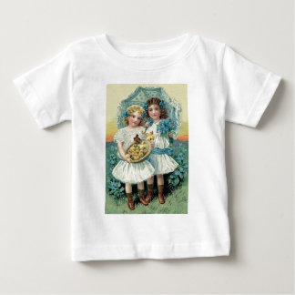 Victorian Girls Easter Chick Forget Me Not Umbrell Baby T-Shirt