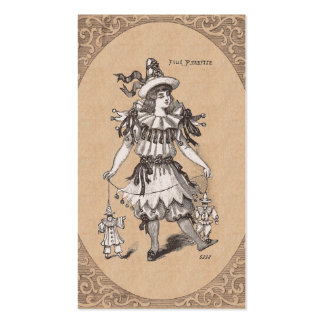 Victorian Girl's Vintage Fashions Party Costume Business Card Templates