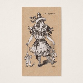 Victorian Girl's Vintage Fashions Party Costume Business Card