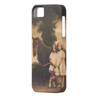 Victorian Girls w/their Horse iPhone 5 Cover