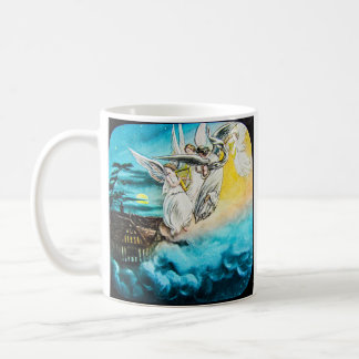 VICTORIAN Glass Magic Lantern Slide THE MAY QUEEN Coffee Mug