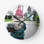 Victorian Gnome Round Wallclock