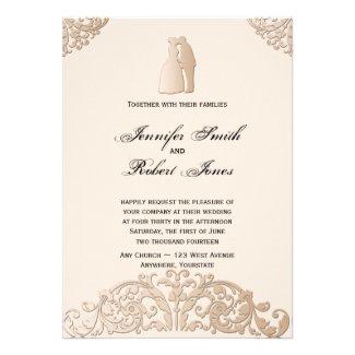 Victorian Gold Filigree Wedding Invitation