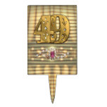 Victorian Gold Number 49 Cake Pick