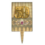 Victorian Gold Number 59 Cake Pick