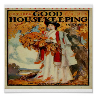 Victorian Good Housekeeping Magazine 1905 Framed P Poster
